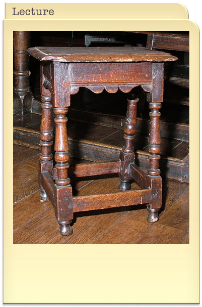Vernacular Furniture 1600 to 1800